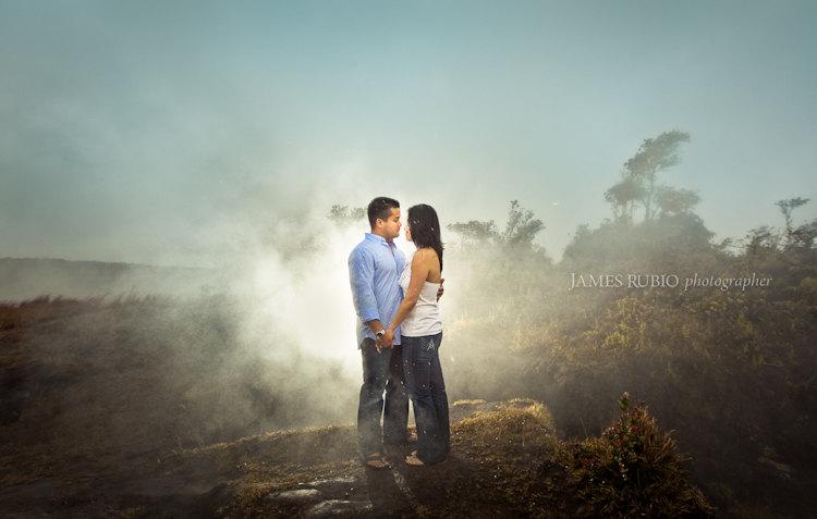 Jonelle Chucky Engagement Volcanoes National Park