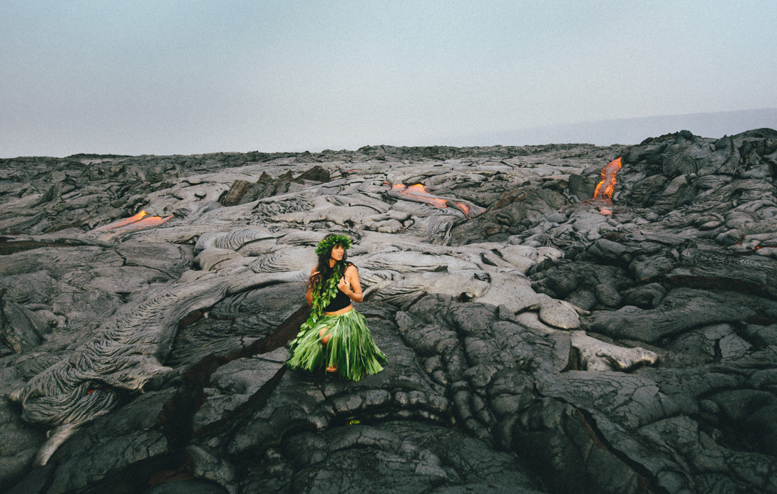 kalapana lava ocean entry with issha