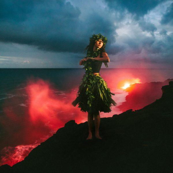 Kalapana Lava Ocean Entry with Issha