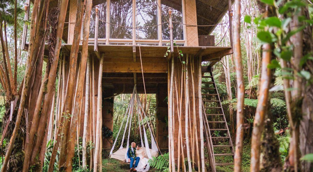 Volcano Treehouse Wedding, Melissa & Graham